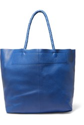 Maje Textured Leather Tote Bright Blue