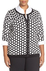 Plus Size Women's Foxcroft Dot Cardigan