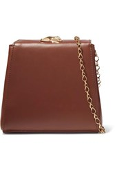 Little Liffner Mademoiselle Mini Leather Shoulder Bag Brown