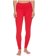 Lorna Jane Squad Core Ankle Biter Tights Scarlet Women's Workout Red
