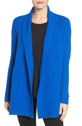 Chaus Women's Two Pocket Cotton Blend Cardigan Winsor Blue
