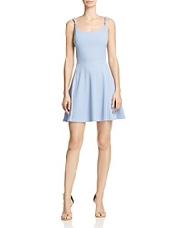Aqua Knotted Strap Ribbed Dress 100 Exclusive French Blue
