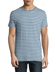Selected Striped Cotton Tee Forever Blue