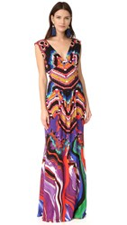 Roberto Cavalli Sleeveless Maxi Dress Rosso Tabacco