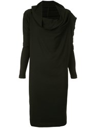 Masnada Funnel Neck Dress Black