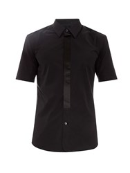 Marc Jacobs Silk Placket Short Sleeved Cotton Shirt