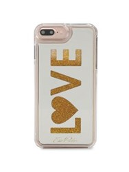 Edie Parker Floating Love Phone Case White Gold