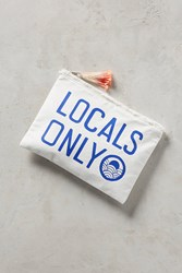 Anthropologie Locals Only Clutch Dark Blue