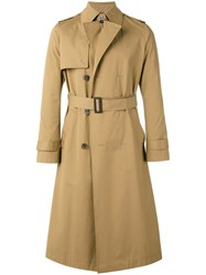 Balenciaga Belted Trench Coat Brown