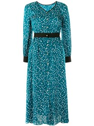Guild Prime Star Print Satin Dress Green