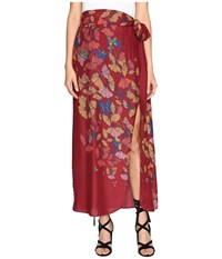 Free People Bri Bri Butterfly Maxi Dress Red Combo Women's Skirt