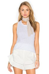 Stateside Supima Slub Jersey Scoop Neck Tank White