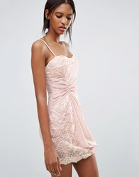 Jasmine Dress With Floral And Ruched Side Detail Pink