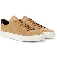 Common Projects Achilles Retro Leather Trimmed Suede Sneakers Sand