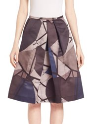Piazza Sempione Abstract Print Skirt Navy Multi