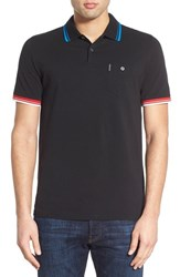 Men's Ben Sherman Short Sleeve Pocket Polo True Black