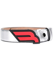 Bally Carby Belt Silver