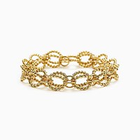 Tiffany And Co. Schlumberger Circle Rope Bracelet In 18K Gold. 18K Yellow Gold