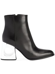 Marni Cut Out Heel Boots Black