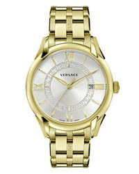 Versace Apollo Bracelet Watch Golden Silver