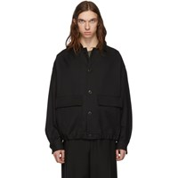 Christophe Lemaire Black Wool Oversized Blouson Jacket