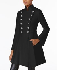 Guess Skirted Double Breasted Military Coat Black