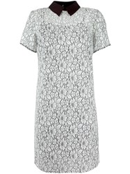 Michael Michael Kors Floral Lace Collared Dress White