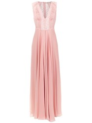 Martha Medeiros Dara Long Dress Pink