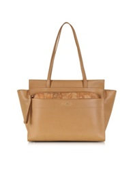 Alviero Martini Kangaroo Large Leather Shopping Bag Brown