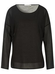 Oui Double Layer Tunic Top Black Grey