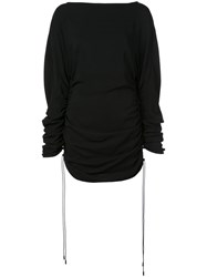 Thierry Mugler Side Ruched Blouse Black