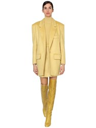 Max Mara Mohair Blend Boucle Jacket Yellow