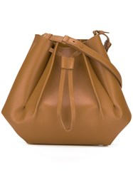 Maison Martin Margiela Structured Bucket Bag Brown