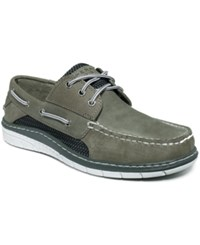 Sperry Men's Billfish Utralite 3 Eye Boat Shoes Men's Shoes Grey White
