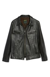 3ed21fd899c Schott Nyc Slim Fit Leather Jacket Black