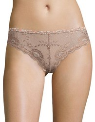 Free People Hold The Line Lace Panties Neutral