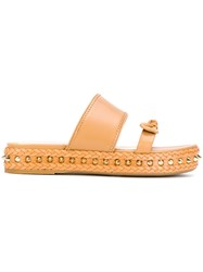 Charlotte Olympia Hackney Sandals Leather Rubber Brown
