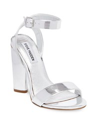 Steve Madden Treasure Leather Dress Sandals Silver