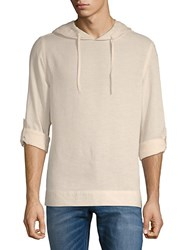 Saks Fifth Avenue Black Heathered Long Sleeve Hoodie Taupe