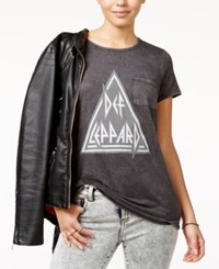 Hybrid Juniors' Def Leppard Graphic T Shirt Black