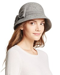 Kate Spade New York Cloche With Bow Gray Melange
