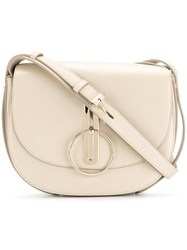 Nina Ricci Disc Buckle Rounded Shoulder Bag Nude And Neutrals