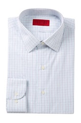 Alexander Julian Check Print Long Sleeve Tapered Fit Shirt White