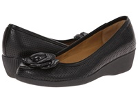 Softspots Salena Black Velvet Sheep Nappa Women's Wedge Shoes