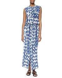 Vince Ikat Print Cargo Maxi Dress Women's