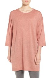 Eileen Fisher Women's Tencel And Merino Wool Blend Tunic Toffee Cream