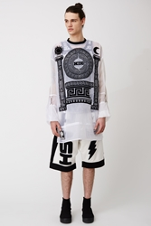 Ktz Alter Sheer Long Sleeve Tee White