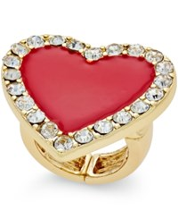 Thalia Sodi Gold Tone Red Crystal Heart Ring Only At Macy's