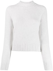 Vince Cropped Knit Sweater White