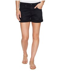 Ag Adriano Goldschmied Hailey Boyfriend Shorts In Sulfur Black Terrain Sulfur Black Terrain Women's Shorts